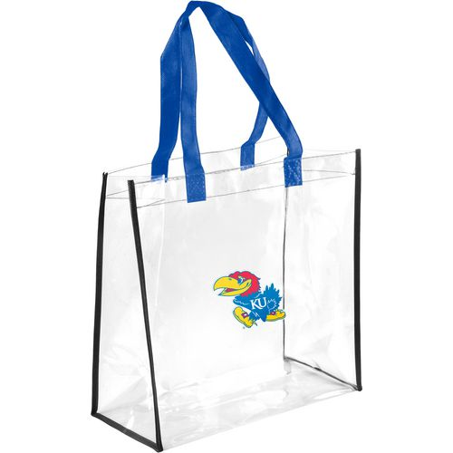 Forever Collectibles University of Kansas Clear Reusable Bag