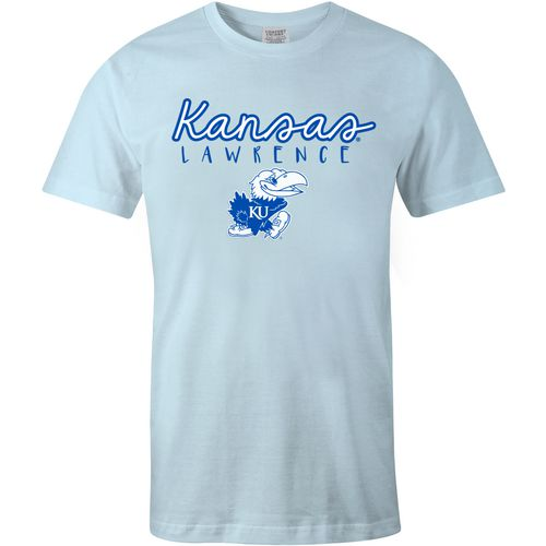 Image One Women's University of Kansas Vintage Floral Comfort Color T-shirt - view number 2
