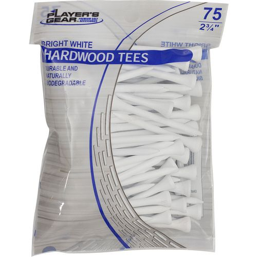 Players Gear 2-3/4 in Hardwood Tees 75-Pack