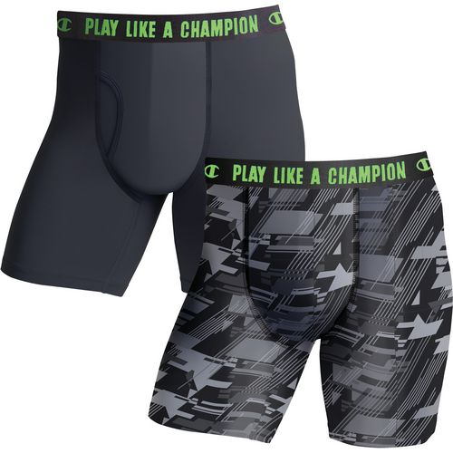 Champion Men's Ultra Lightweight Regular Leg Boxer Briefs 2-Pack