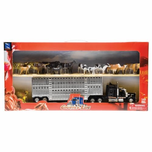 New-Ray Toys Hauler Set with Animals