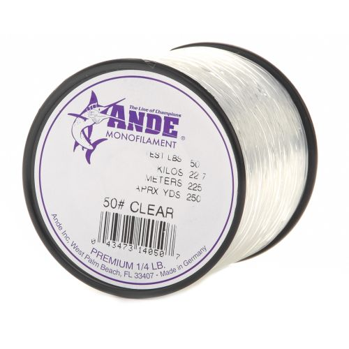 ande premium 50 lb 250 yards monofilament fishing line