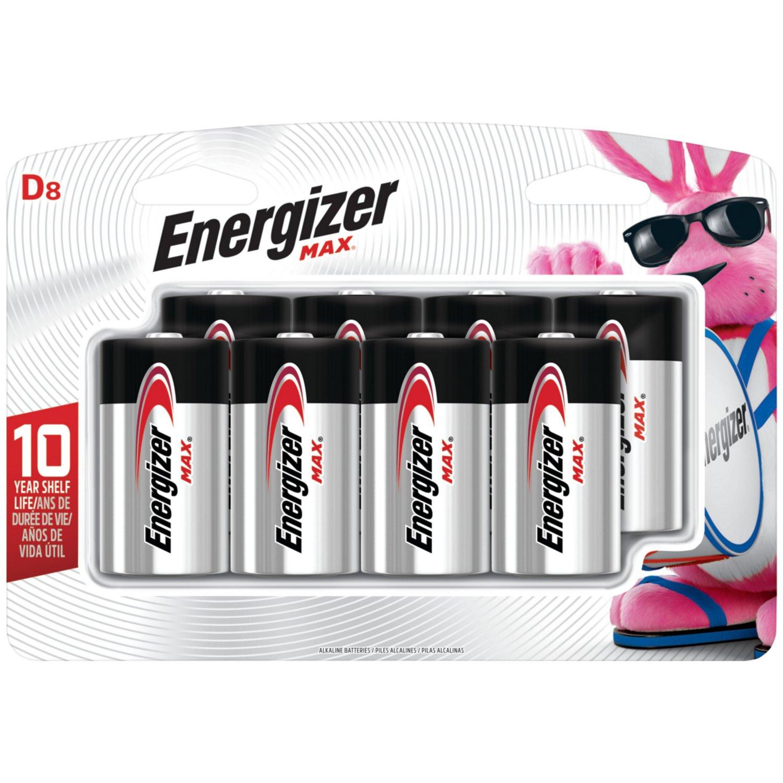 Energizer® Max Alkaline D Batteries 8-Pack