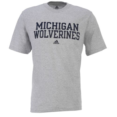 adidas Men's University of Michigan Stacked Short Sleeve T-shirt