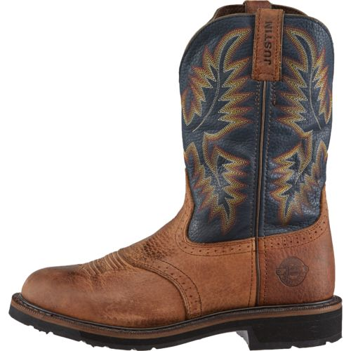 Display product reviews for Justin Men's Original Stampede Copper Kettle Rowdy Work Boots