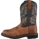 Justin Men's Original Stampede Copper Kettle Rowdy Western Work Boots
