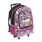Accessories 22 Girls' Dazzling Monkey Rolling Backpack