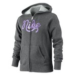 Nike Girls' Brushed Fleece Full Zip Hoodie