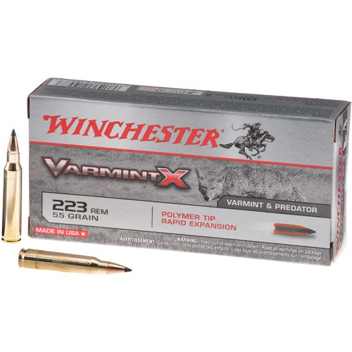 Winchester Varmint X .223 Remington 55-Grain Centerfire Rifle Ammunition