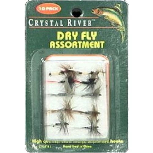 Crystal River Assorted Dry Flies 10-Pack