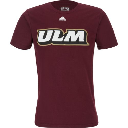adidas Men's University of Louisiana at Monroe Team Font Short Sleeve T-shirt