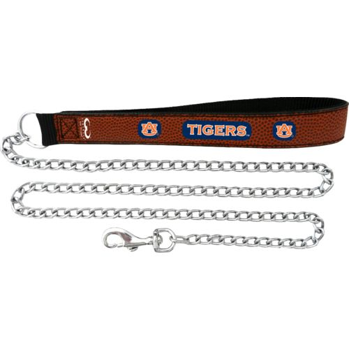 GameWear Auburn University Football Leather 2.5 mm Chain Leash