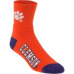 For Bare Feet Men's Clemson University Originals Team Quarter Socks