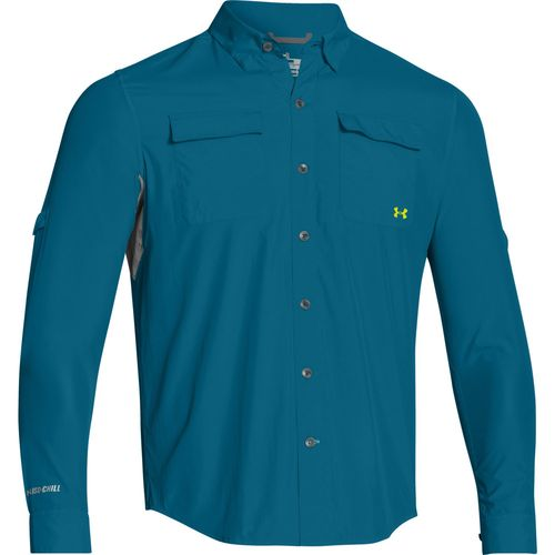 Under armour men 39 s iso chill flats guide long sleeve for Under armor fishing shirt