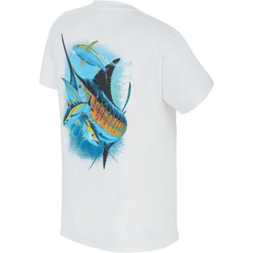 Guy Harvey Men's Triple Force Print Graphic T-shirt