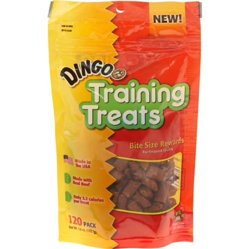 Display product reviews for Dingo Dog Training Treats 120-Pack