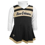 NFL Girls' New Orleans Saints Cheer Jumper Dress and Turtleneck Set