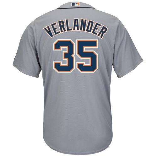 Majestic Men's Detroit Tigers Justin Verlander #35 Cool Base® Road Jersey - view number 1
