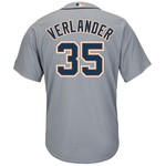 Majestic Men's Detroit Tigers Justin Verlander #35 Cool Base® Road Jersey