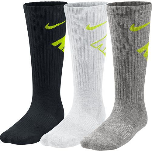 Display product reviews for Nike Boys' Graphic Crew Cotton Cushion Socks