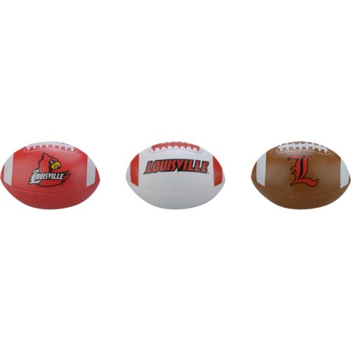 Rawlings® Boys' University of Louisville 3rd Down Softee 3-Ball Football Set - view number 1