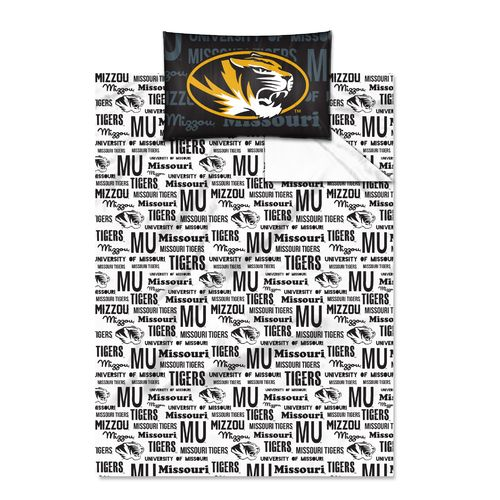 The Northwest Company University of Missouri Anthem Twin Sheet Set