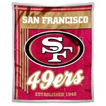 The Northwest Company San Francisco 49ers Old School Mink with Sherpa Throw