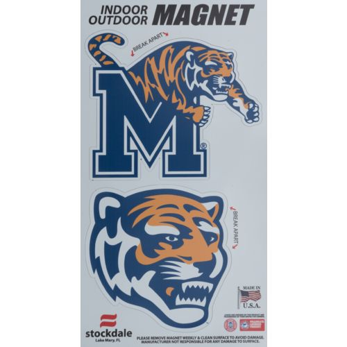 Stockdale University of Memphis Logo Magnets 2-Pack