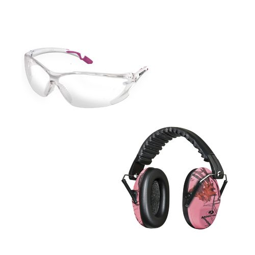 Mossy Oak Lula Camo Earmuffs and Shooting Glasses Combo Pack