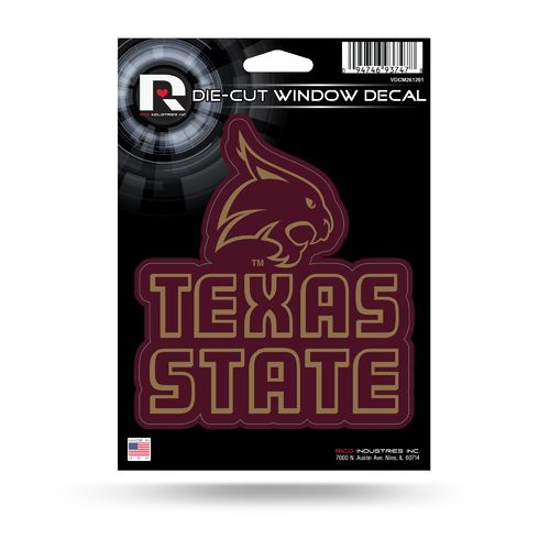 Rico Texas State University Medium Die-Cut Decal