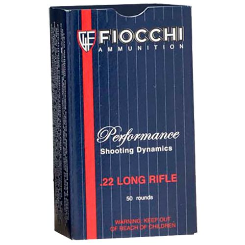 Fiocchi Shooting Dynamics .22 Long Rifle 40-Grain Long Round Nose Rimfire Rifle Ammunition