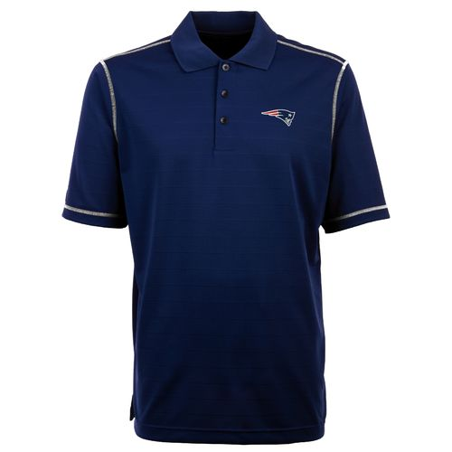 Antigua Men's New England Patriots Icon Short Sleeve Polo Shirt