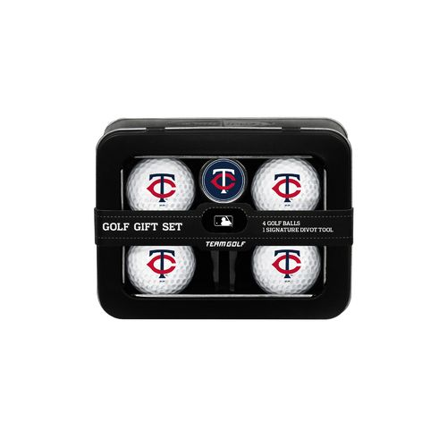 Team Golf Minnesota Twins 4-Ball Tin Gift Set
