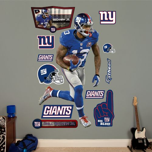 Fathead New York Giants Odell Beckham Jr. Home Real Big Wall Decal
