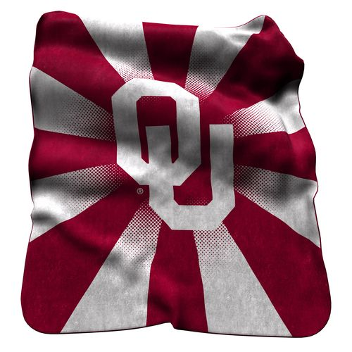 Logo University of Oklahoma Raschel Throw