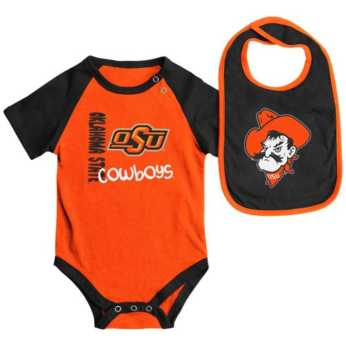 Colosseum Athletics Infants' Oklahoma State University Rookie Onesie and Bib Set