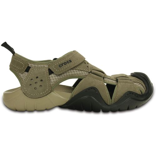 Crocs™ Men's Swiftwater Leather Fisherman Sandals