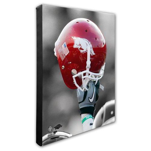 Photo File University of Arkansas Helmet Stretched Canvas Photo