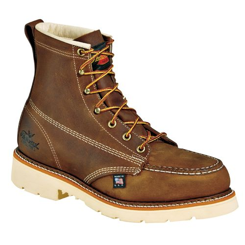 "Display product reviews for Thorogood Shoes Men's American Heritage Job Pro 6"" Moc Toe Safety Toe Work Boots"