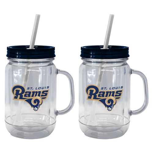 Boelter Brands St. Louis Rams 20 oz. Handled Straw Tumblers 2-Pack