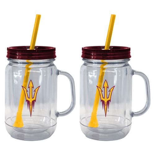 Boelter Brands Arizona State University 20 oz. Handled Straw Tumblers 2-Pack