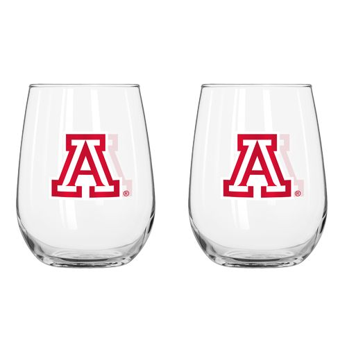 Boelter Brands University of Arizona 16 oz. Curved Beverage Glasses 2-Pack