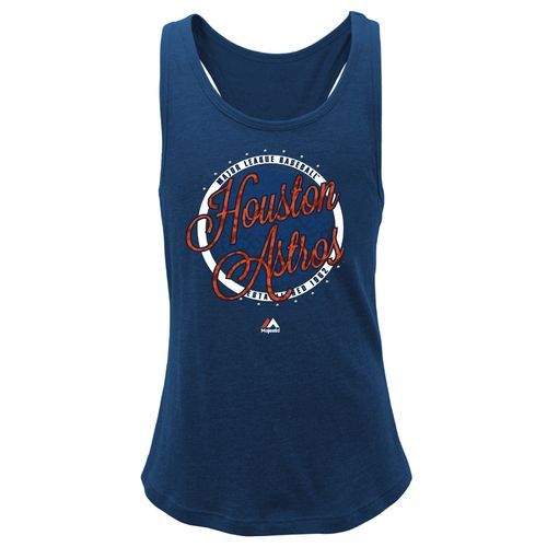 Majestic Girls' Houston Astros Shine Bright Tank Top