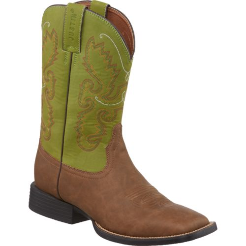 Justin Men's Farm and Ranch Square Toe Boots - view number 2