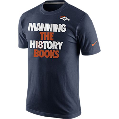 Nike Men's Denver Broncos Manning The History Books T-shirt