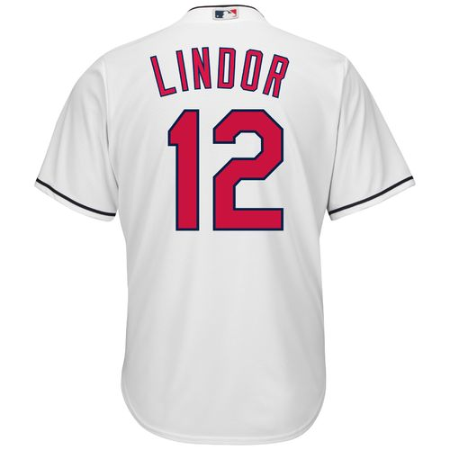 Majestic Men's Cleveland Indians Francisco Lindor #12 Cool Base Replica Jersey