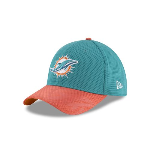 New Era Men's Miami Dolphins 39THIRTY Onfield Sideline Cap