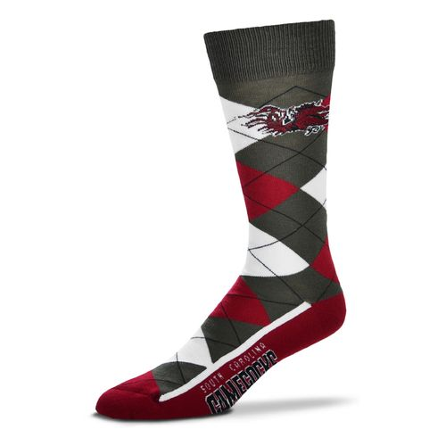 FBF Originals Men's University of South Carolina Argyle Zoom Dress Socks