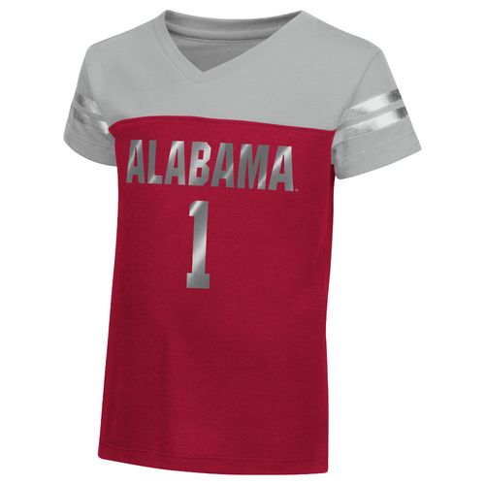 Colosseum Athletics™ Toddler Girls' University of Alabama Nickle T-shirt