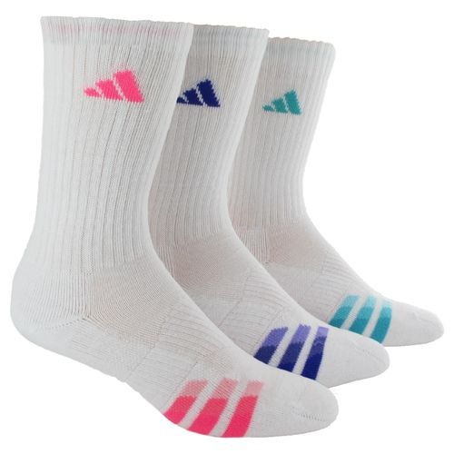 adidas™ Women's Cushioned Variegated Crew Socks 3-Pair